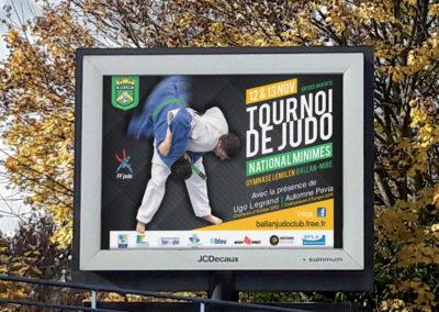 Conception affiche Tournoi National de Judo