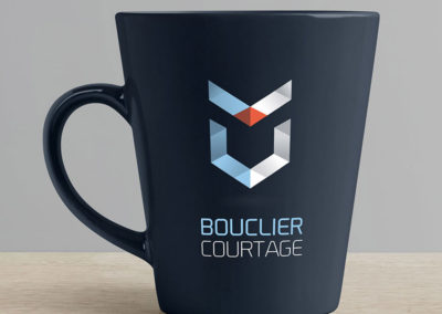 Conception logo Bouclier Courtage